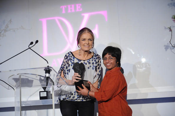 Gloria Steinem and Sunitha Krishnan attend 2013 DVF Awards at United Nations on April 5, 2013 in New York City.