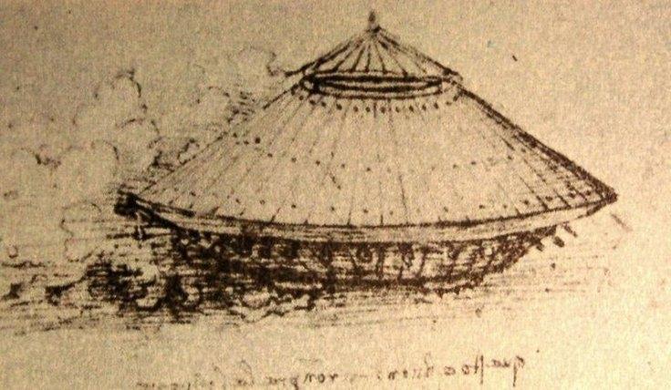 Leonardo da Vinci's design for a tank.