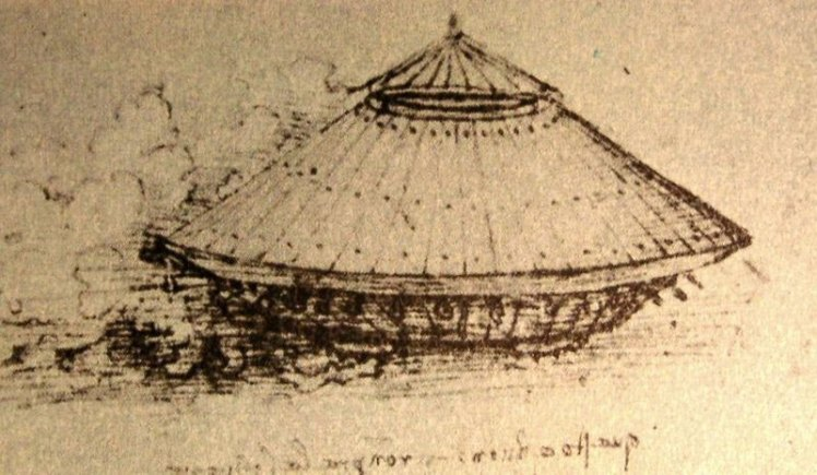 Leonardo da Vinci's design for a tank.