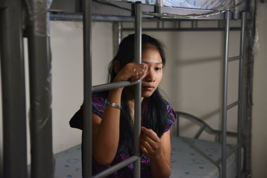 """'Beth', now 20, from rural Philippines, abused in Manila. """"My employer would bang my head on the wall and she would throw hot water on me. She would burn my skin with cigarettes. She said this was the punishment for my sins."""""""