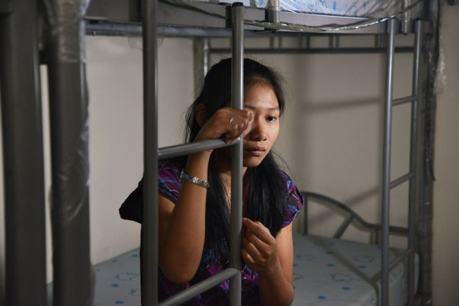 "'Beth', now 20, from rural Philippines, abused in Manila. ""My employer would bang my head on the wall and she would throw hot water on me. She would burn my skin with cigarettes. She said this was the punishment for my sins."""