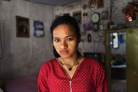 """Saraswati, now 20, from rural Nepal, abused in Nepal. """"She took me to my room and started beating me with her hand. Pulling my hair. With no one at home to stop her, she would beat me a long time….The Government should not allow children to be used as domestic workers."""""""